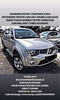 SAMBUNG BAYAR / CONTINUE LOAN  MITSUBISHI TRITON L200 4X4  DOUBLE CAB AUTO