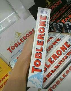 SALE  TOBLERONE 100G @ 95.00  MILK CHOC. WHITE DARK ALMONDS