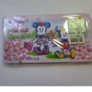 米奇老鼠12色顏色筆 colour pencils