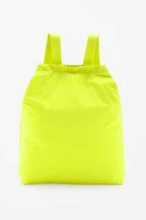 COS neon yellow tote + back pack
