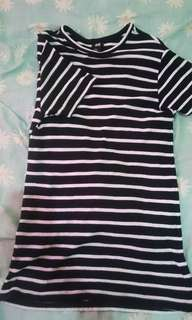 Stripe tshirt by h&m (over size)