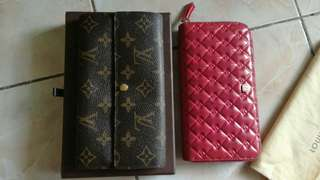 Authentica LV and Fendi Wallets