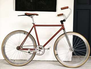 """FIXIE 26"""" VINTAGE BRONZE BROWN FIXIE Coaster Brake Fixed Gear Free Gear Flip Flop Hub 9.5Kg Only (PM for more details) LEFT LAST TWO SET ONLY!!!"""
