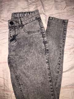 Cotton On The Jegging Mid Rise Grey Acid Wash