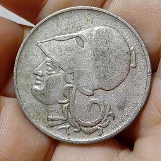 Greece Coin 1926 Goddess Athena Circulated