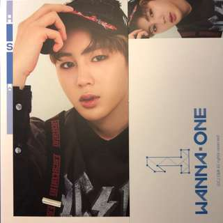 "wanna one ""1 × 1 = 1 (TO BE ONE)"" Ha Sungwoon photocard ( sky blue ver. )"