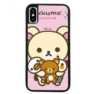 鬆弛熊粉色底抱frd frd iPhone case**這款可訂造其他形號(eg三星、小米)