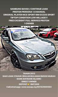 SAMBUNG BAYAR / CONTINUE LOAN  PROTON PERSONA 1.6 MANUAL