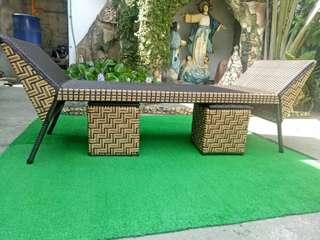 Cleopatra sofa synthetic plastic rattan
