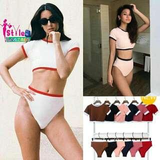 Eira Crop Top Bikini Set