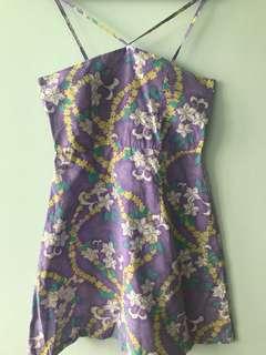 Floral lavender haltered dress