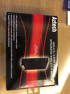 Aztech ADSL 2/2 4 port integrates wireless_G modem