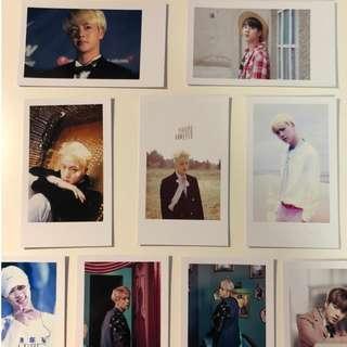 bts jin photocard