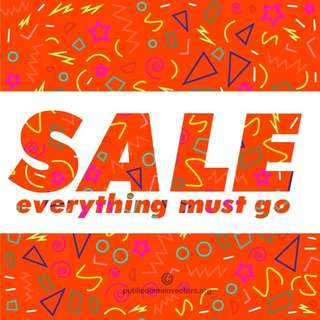 MASSIVE SALE!!! Everything MUST Go!!! Up to 80% of retail prices