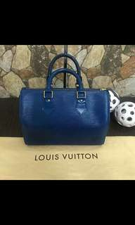 Authentic Louis Vuitton Speedy Epi Blue