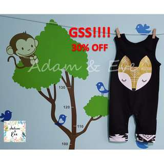 GSS Baby Romper B19 – Gold Fox Black Romper $13.90 (NOW $10)