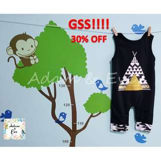 GSS Baby Romper B20 Gold Pyramid Black Romper $13.90 (NOW $10)