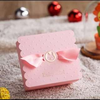 Ready Stocks 30 Pieces Pink Bear Baby Shower Door Gift Favors Box