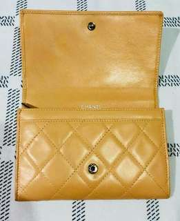 Authentic Chanel Ladies Yellow Wallet