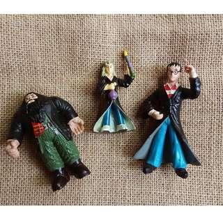 3 Figure keramik Harry Potter, Hermione, Hagrid
