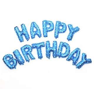 Happy Birthday Balloon (Blue)