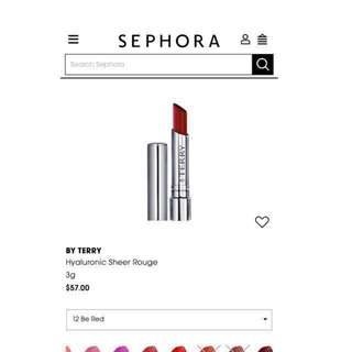 BY TERRY Hyaluronic Sheer Rouge lipstick 12 be red