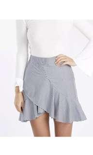 Tussah Frill Skirt  - SIZE 8
