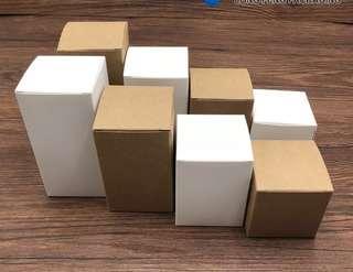 50 pieces 6x6x8cm Plain Kraft Paper Packaging Box For DIY Handmade