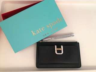 Kate spade 全新黑色銀包