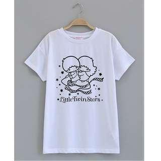 日貨 日牌 日系 LittleTwinStars  雙子星 KIKILALA  短袖T恤  白