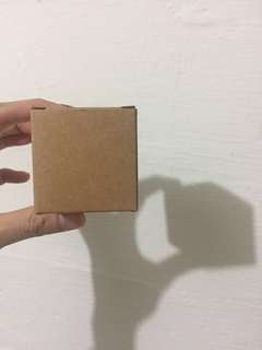 Plain 55 pieces 5x5x5cm Kraft Paper Square Cube Box For DIY Handmade