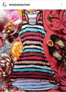 Long back Striped dress