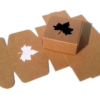 60 pieces In Stocks: Plain Kraft Paper Square Box With Window Opening