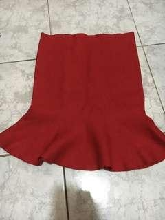 Red Mermaid Skirt