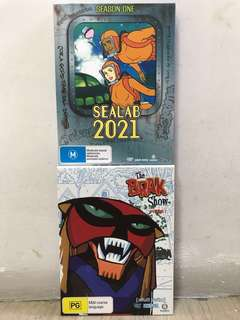 Adult Swim Animated Sealab 2021 S1 n The Brak Show S1 DVD Complete Set of 2