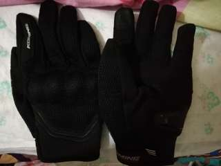 Komine M size motorbike riding gloves