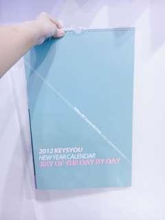 🚚 SHINee key 2012 KEYSYOU 韓站 年曆 掛曆