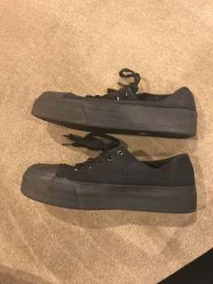 Sportsgirl Black Canvas Shoes Size 9