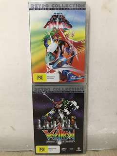 Madman Retro Collection Best of The Battle of The Planets n Voltron Defender of The Universe Set Of 2