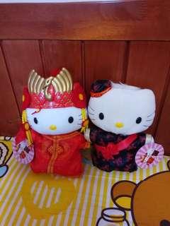 Hello Kitty 中式結婚公仔一對