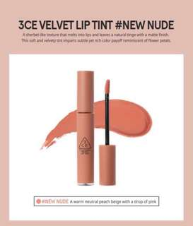 INSTOCK 3CE Velvet Lip Tint (NEW NUDE)
