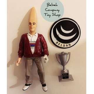 3) 1993年 playmates 尖頭外星人 coneheads 古董玩具 可動人偶 絕版玩具 公仔
