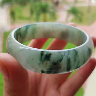 Grade A myanmar jade with cert 60 mm