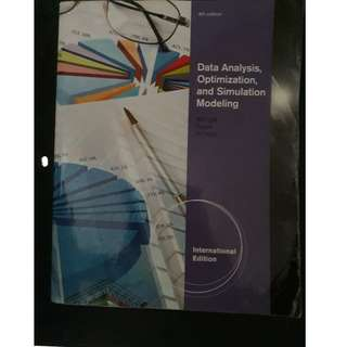 Data Analysis, Optimization and Simulation Modeling