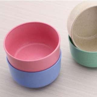 Eco-Friendly Wheat Straw 4 Bowls per set