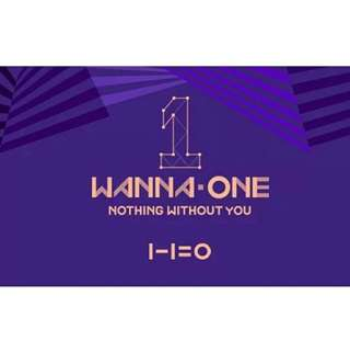 WANNA ONE TO BE ONE PREQUEL REPACKAGE NOTHING WITHOUT YOU
