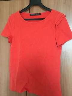 Authentic Zara Orange Top Basics
