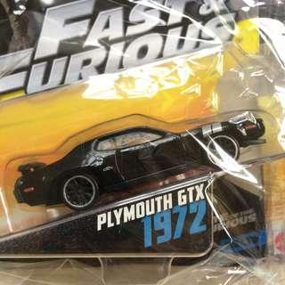 Mattel dodge plymouth gtx fast & furious
