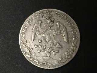 1893年 墨西哥 鷹洋 大銀幣 8 reales 保真!