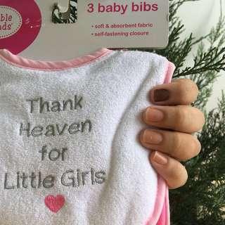Baby Girl Bibs